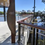 Queen's Wharf Brisbane stainless steel balustrade