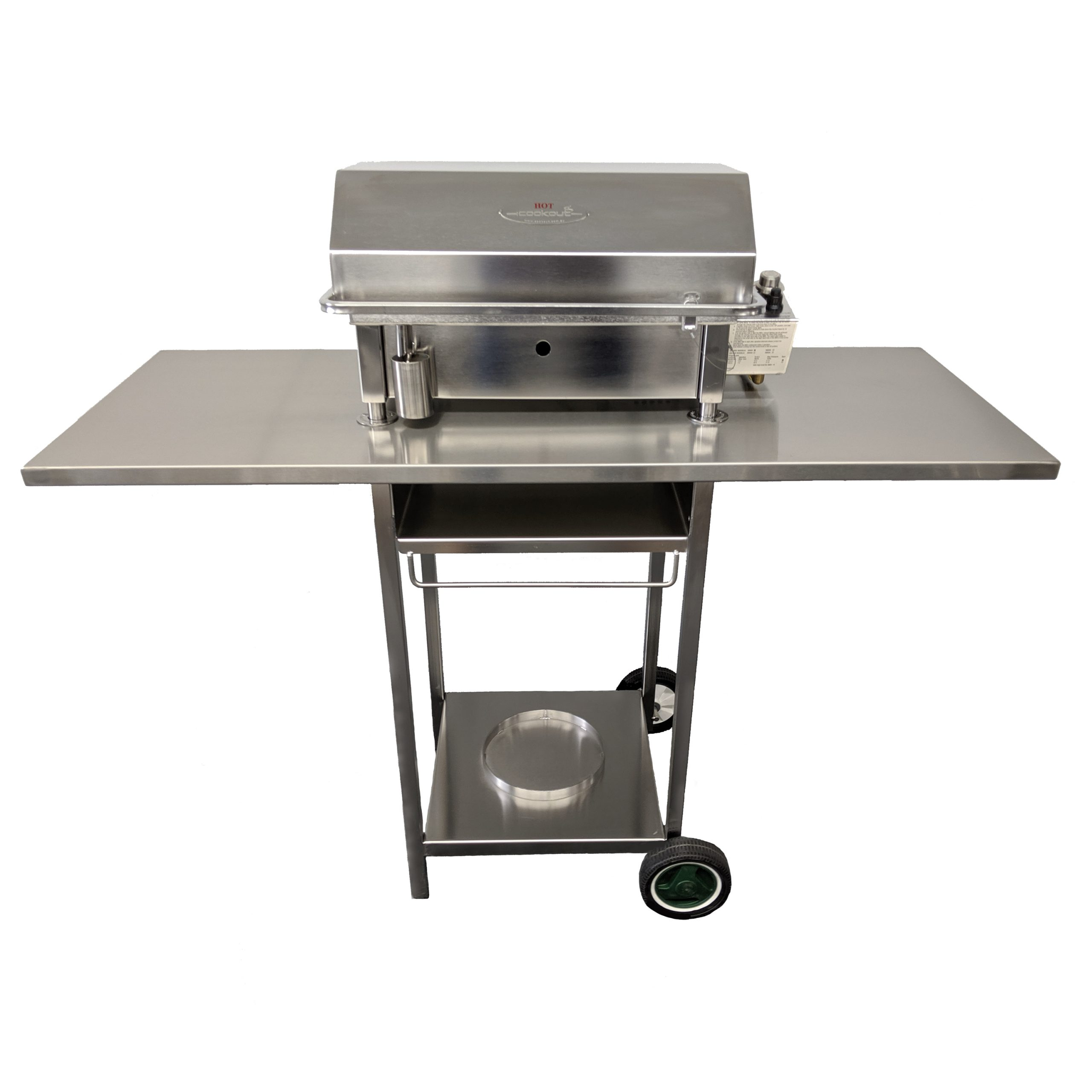 Stainless Cookout BBQ portable Trolley