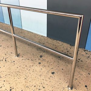 Stainless steel safety rail at Gold Coast Airport