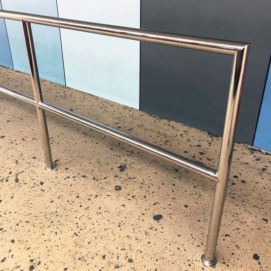 Stainless steel safety rail at Gold Coast Airport by Southern Stainless