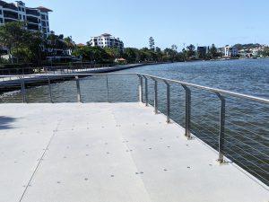 Mariners Reach, Brisbane stainless steel handrails
