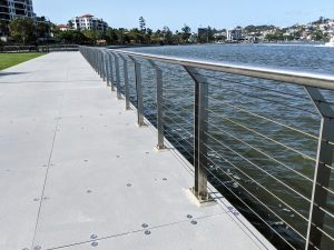 Mariners Reach, Brisbane stainless steel commercial balustrade