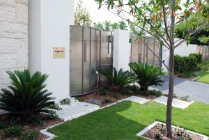 Stainless Steel custom fabricated feature front and driveway gate