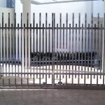 Stainless Steel custom fabricated panelled feature gate