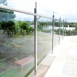 Stainless Steel fencing with glass panels on balcony