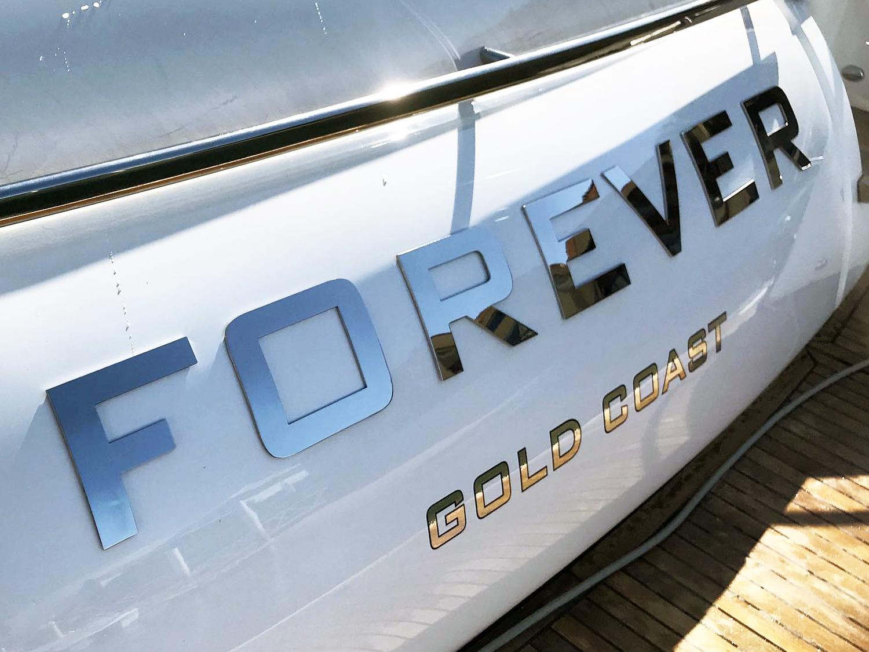 Stainless steel boat names Australia - Princess Motot Yacht Forever