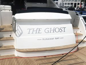Stainless steel boat names Australia - Riviera 5400 The Ghost