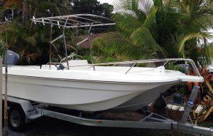 Boat targa top stainless steel
