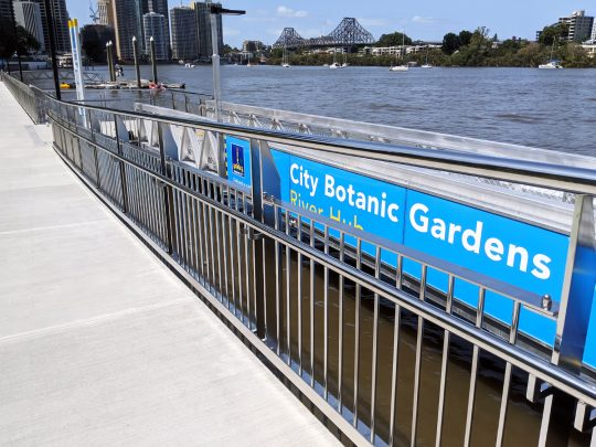 Botanical Gardens, Brisbane commercial stainless steel balustrade fabricator