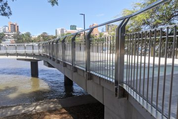 Botanical Gardens, Brisbane river stainless steel balustrade fabrication