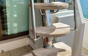 Stainless Accessories, Boat Custom Flybridge Ladder Stairs