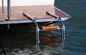 Stainless Fabrication Accessories, Boat Swim Ladder and Duckboard Surround