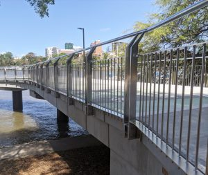 Cleaning and removing tea staining from stainless steel balustrade Australia