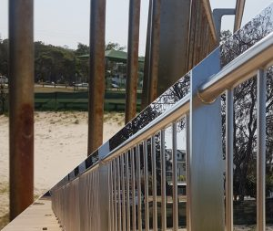 Cleaning stainless steel balustrade Australia