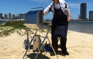 Stainless steel BBQ accessories Australia, portable beach stand and stainless gas bottle