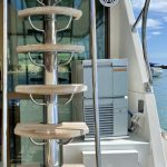 Custom stainless steel boat flybridge ladder Riviera 46 Australia