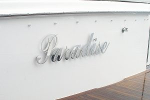 Stainless Boat Name and Marine Letters - Paradise