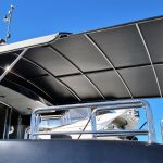 Custom slide out boat awning
