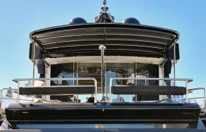 Custom stainless boat awning