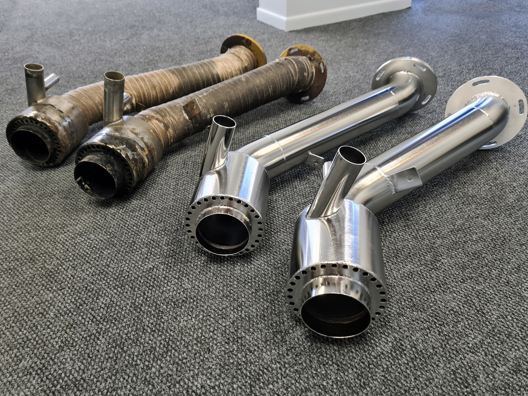 Boat exhaust systems stainless