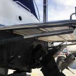 Stainless duckboard with stern rail