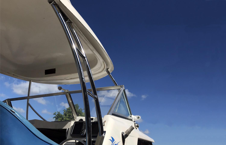 Targa bar for boats stainless