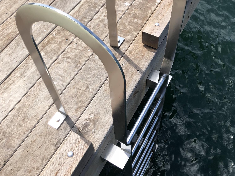 Marine safety ladder stainless steel