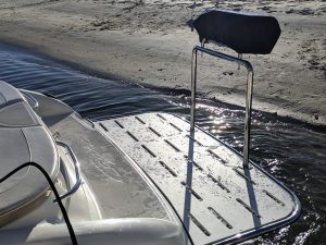 Stainless steel boat stern rails