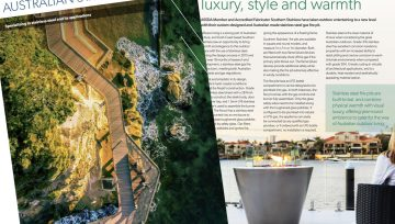 Luxury gas fire pits featured in issue 72 of Australian Stainless magazine
