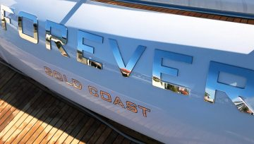 'Forever' Princess Yacht, Gold Coast. Custom boat names stainless steel